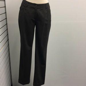 Akris pinto brown wool pants with cuffs size 4
